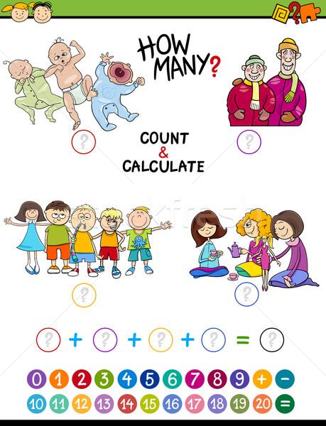 mathematical game for preschoolers Stock photo © izakowski