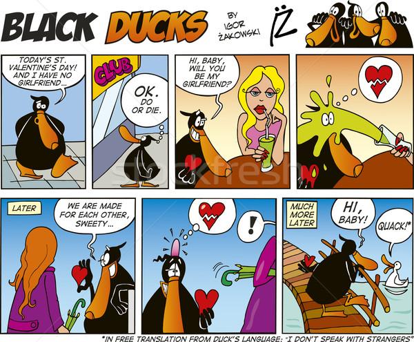 Black Ducks Comics episode 39 Stock photo © izakowski