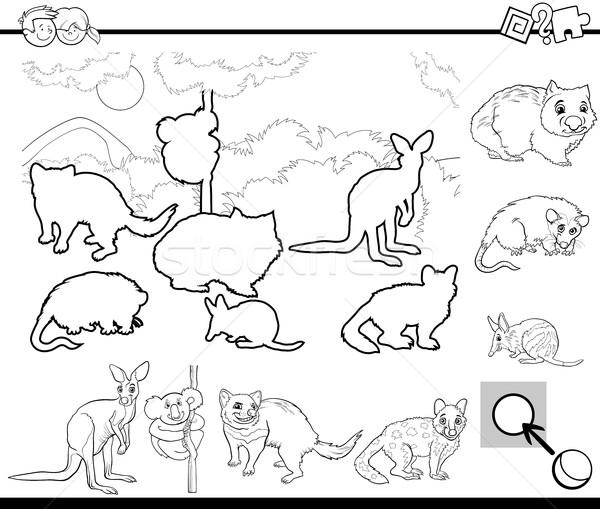 cartoon task for coloring Stock photo © izakowski