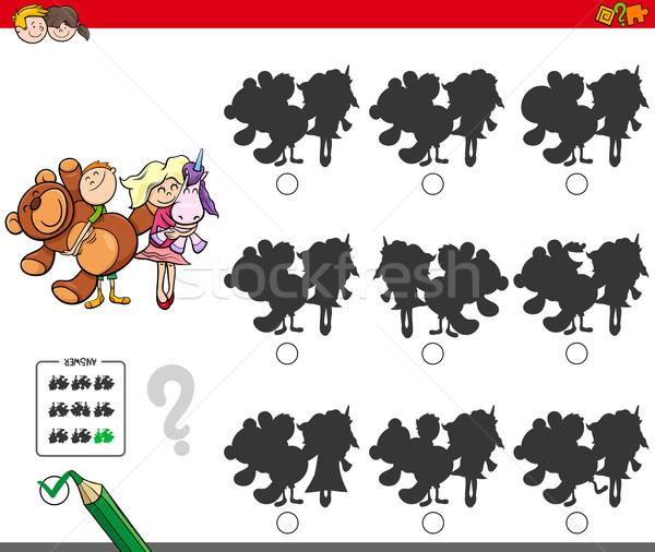Educativo sombra juego ninos juguetes Cartoon Foto stock © izakowski