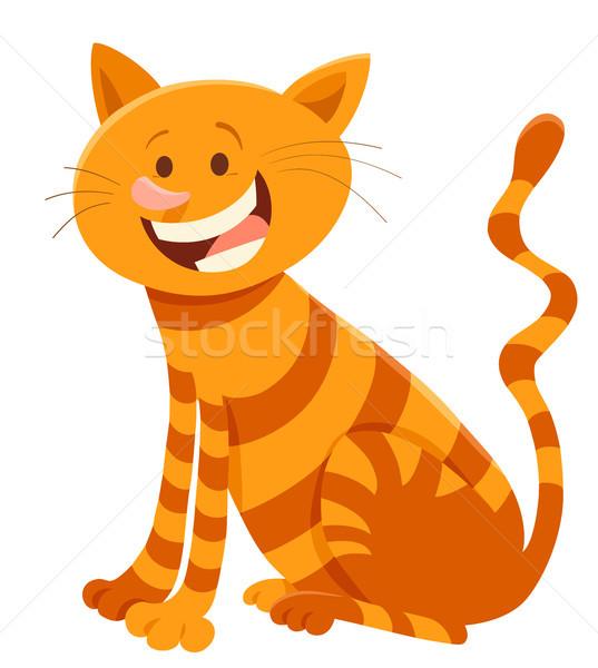 cute cat cartoon animal character Stock photo © izakowski