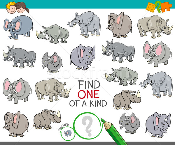 find one of a kind with animal characters Stock photo © izakowski