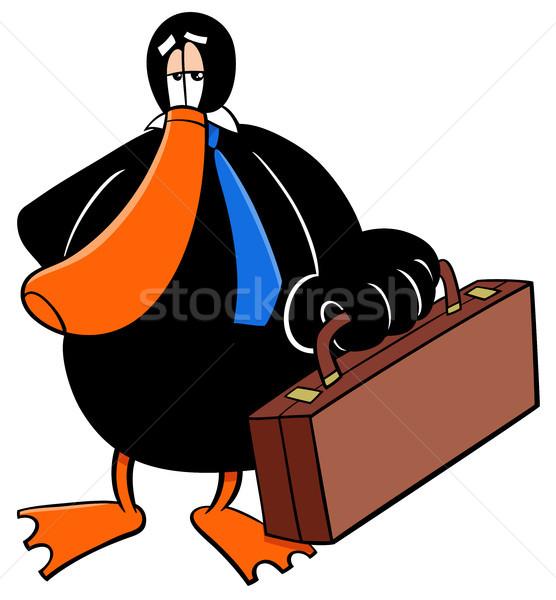 Pato empresário desenho animado ilustração Foto stock © izakowski