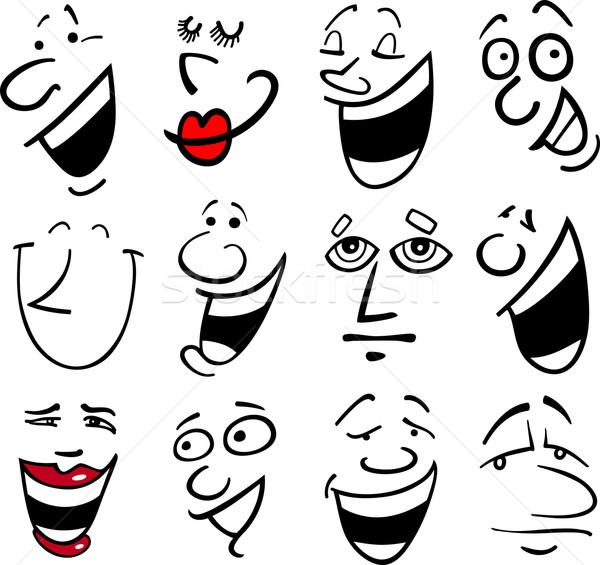 Cartoon emotions illustration Stock photo © izakowski