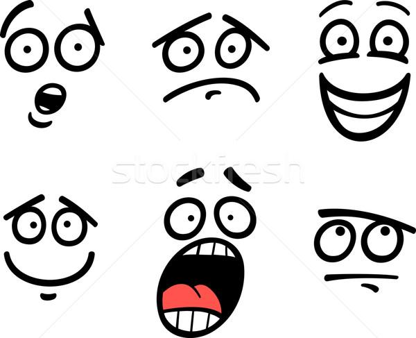 emoticon or emotions set cartoon illustration Stock photo © izakowski