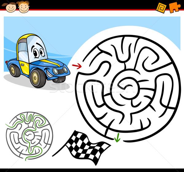 Cartoon laberinto laberinto juego ilustración educación Foto stock © izakowski