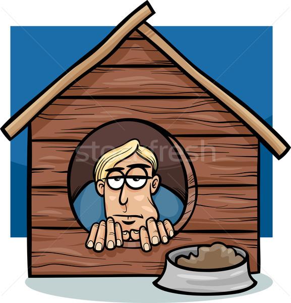 Cartoon humour illustration proverbe Photo stock © izakowski