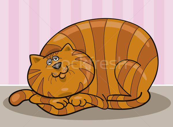 Fat cat Stock photo © izakowski
