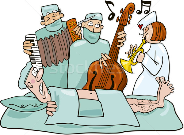 Crazy surgeons operation band Stock photo © izakowski