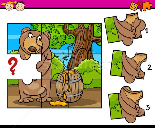 パズル 幼稚園 漫画 タスク 実例 ジグソーパズル ストックフォト © izakowski