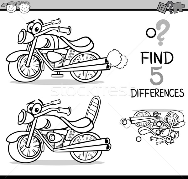 find the differences for coloring Stock photo © izakowski