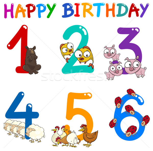 birthday greeting card collection Stock photo © izakowski