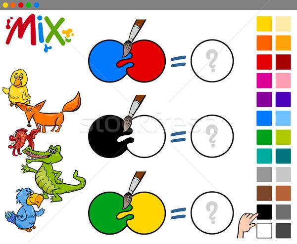 mix colors educational activity Stock photo © izakowski
