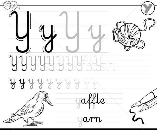 learn to write letter Y workbook for kids Stock photo © izakowski
