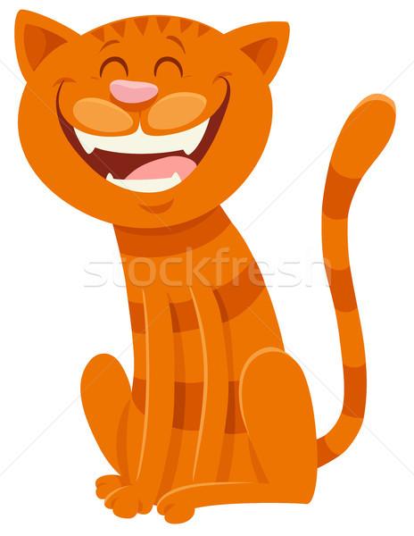 funny cat cartoon animal character Stock photo © izakowski