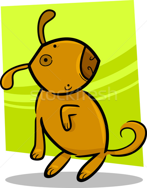 Stock photo: cartoon doodle of cute dog