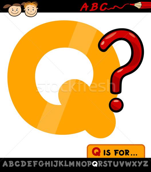 letter q with question mark illustration Stock photo © izakowski
