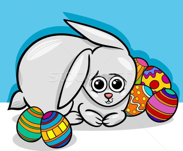 easter bunny cartoon illustration Stock photo © izakowski