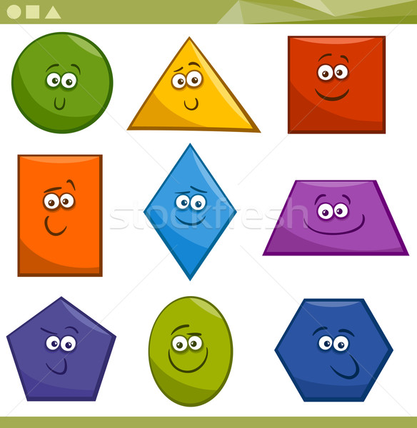 Cartoon Basic Geometric Shapes Stock photo © izakowski