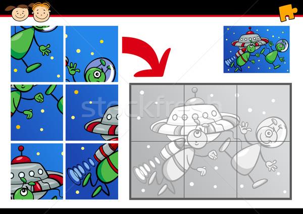 Cartoon jeu illustration éducation maternelle Photo stock © izakowski