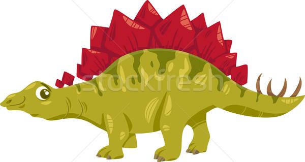 stegosaurus dinosaur cartoon illustration Stock photo © izakowski