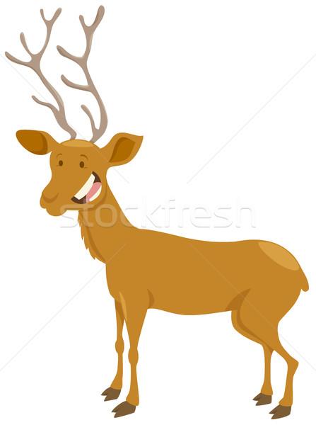 deer cartoon animal character Stock photo © izakowski