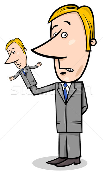 puppeteer businessman concept cartoon Stock photo © izakowski