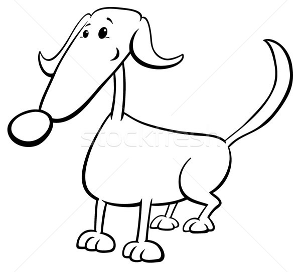 - Funny Dog Cartoon Character Color Book Vector Illustration © Igor Zakowski  (izakowski) (#9121114) Stockfresh
