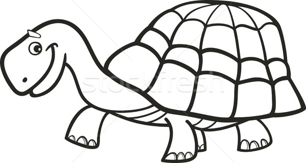 Stock photo stock vector illustration illustration of cartoon turtle for coloring book