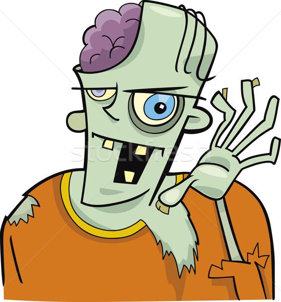 Cartoon зомби иллюстрация смешные искусства мозг Сток-фото © izakowski