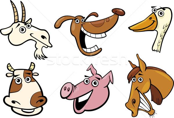 Cartoon animales de granja establecer ilustración diferente funny Foto stock © izakowski