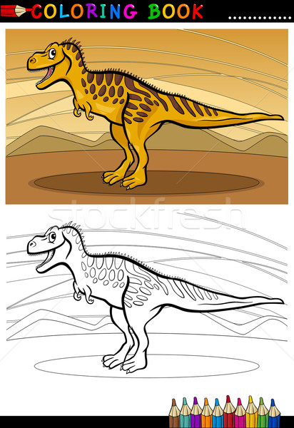 tarbosaurus dinosaur for coloring book Stock photo © izakowski