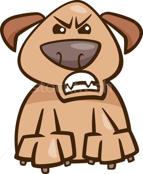 Humor furioso cão desenho animado ilustração engraçado Foto stock © izakowski