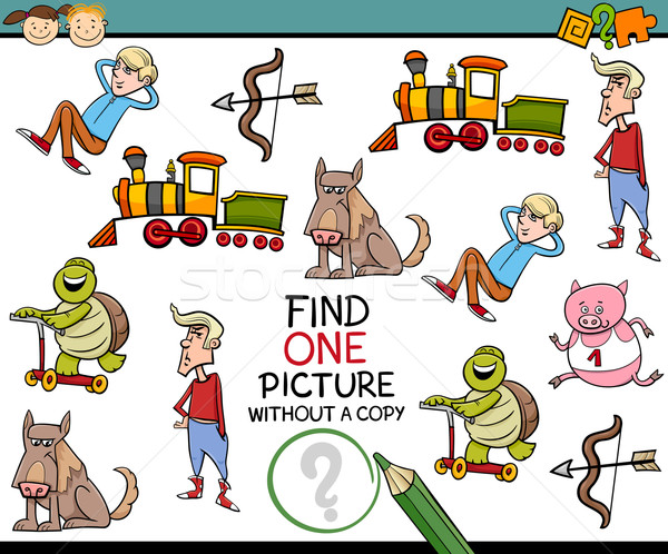 find single picture preschool test Stock photo © izakowski