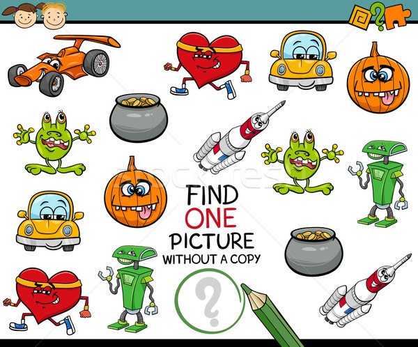 find single picture preschool task Stock photo © izakowski