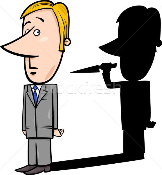 businessman and evil shadow Stock photo © izakowski