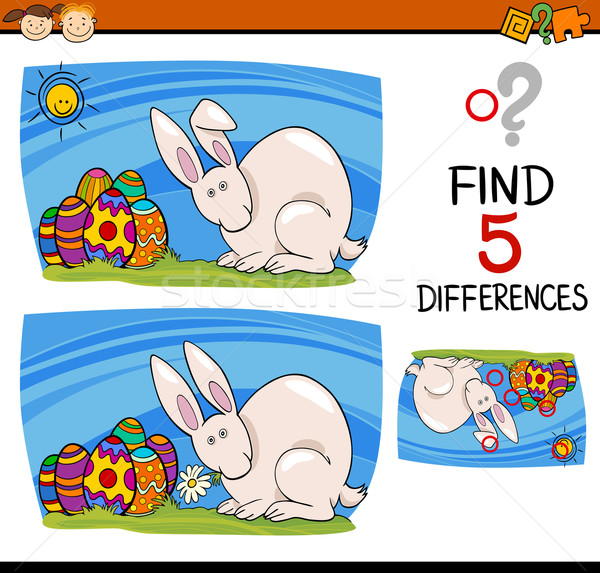 easter task of differences Stock photo © izakowski