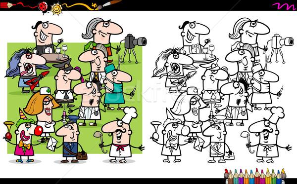 occupations coloring page Stock photo © izakowski