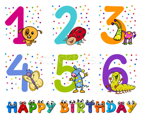 birthday greeting cards collection Stock photo © izakowski