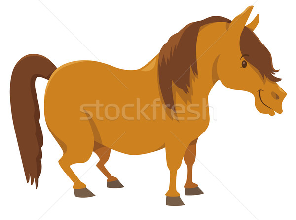 pony farm animal character Stock photo © izakowski