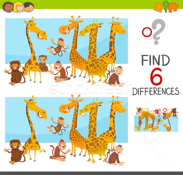 Différences jeu enfants cartoon illustration place Photo stock © izakowski