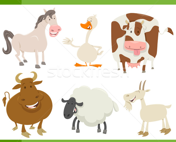 cartoon farm animals collection Stock photo © izakowski