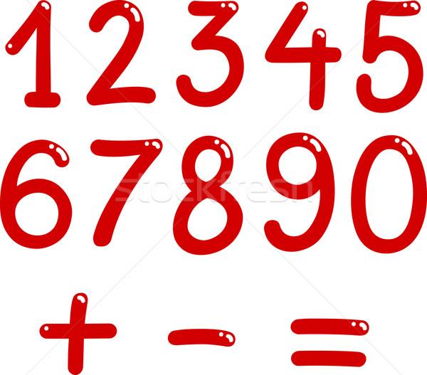 Numeri pari a zero nove illustrazione math simboli Foto d'archivio © izakowski
