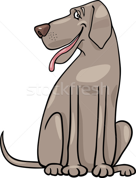 great dane dog cartoon illustration Stock photo © izakowski