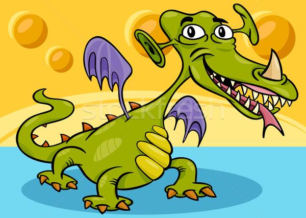 monster or dragon cartoon Stock photo © izakowski