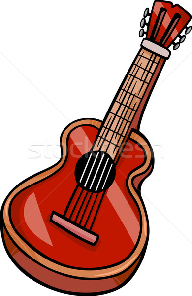 Guitare acoustique cartoon clipart illustration instrument de musique musique Photo stock © izakowski