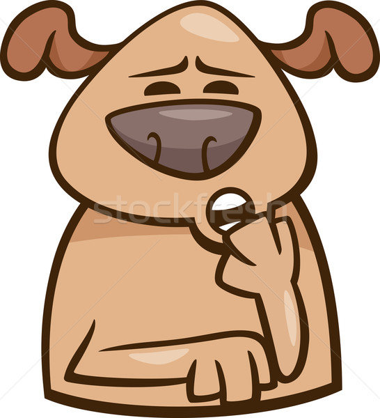 Hangulat álmos kutya rajz illusztráció vicces Stock fotó © izakowski