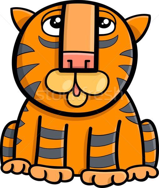 tiger animal cartoon illustration Stock photo © izakowski