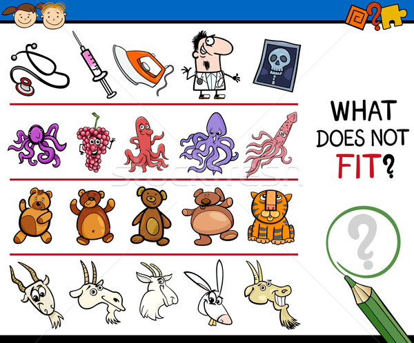 what does not fit cartoon game Stock photo © izakowski