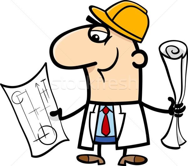 engineer cartoon illustration Stock photo © izakowski